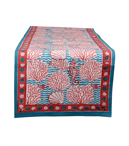 Reversible Table Runner - Coral