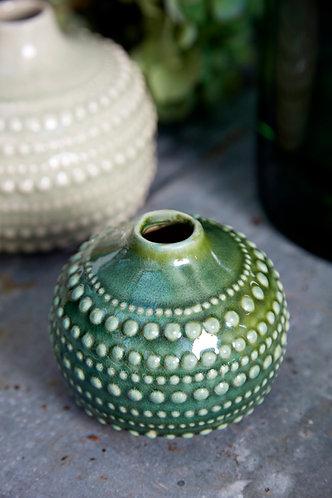 Green Bobble Vase