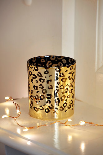 Gold Animal Print T light