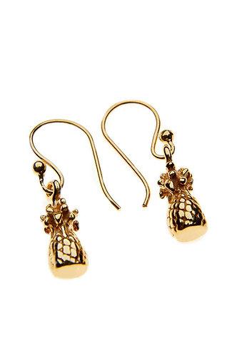 Gold Pineapple Earring