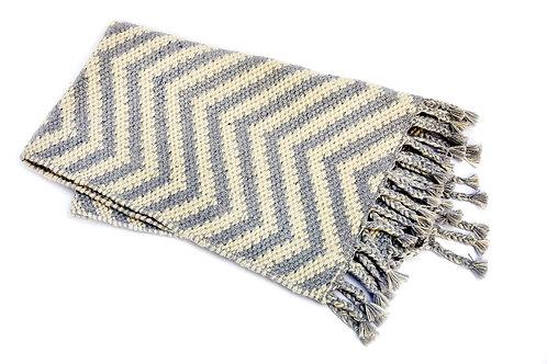 Rug with Grey Zig Zag Pattern