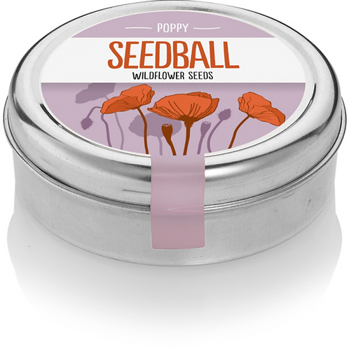Seedball, wildflower Mix of Poppies