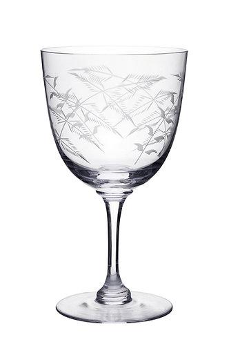 Wine Glass - Fern Design
