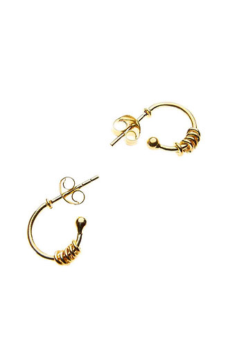 Gold Hoop with Rings
