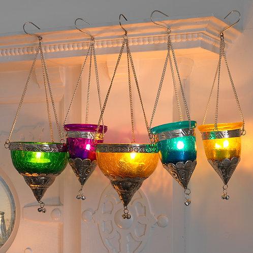 Indian Jewel Coloured Hanging Nite Lites