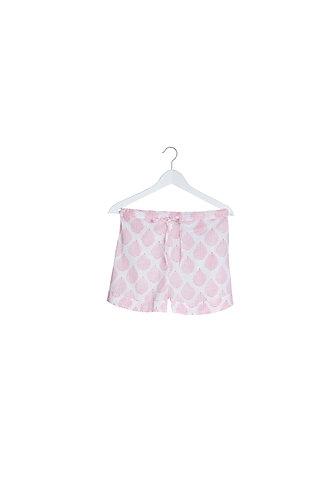 Pink Leaf Design Pyjama Shorts
