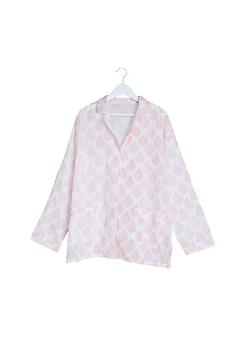 Pink Leaf Design Pyjamas