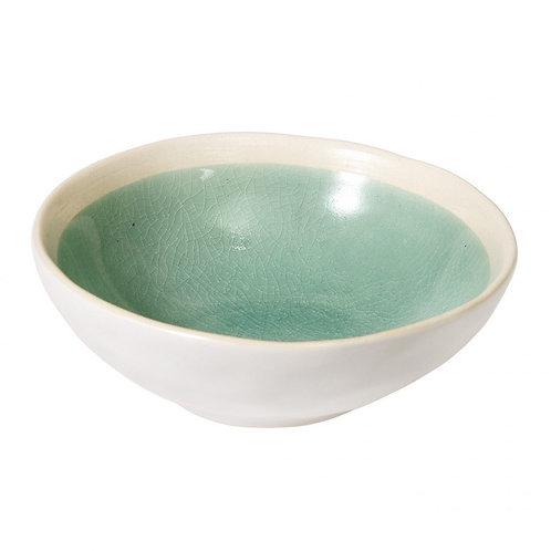 Crackle Glaze Bowl - Sage Green