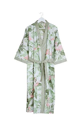Kimono with Flamingo Design