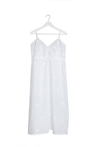 Nighty/Cami Dress White with Ribbon and Embroidery