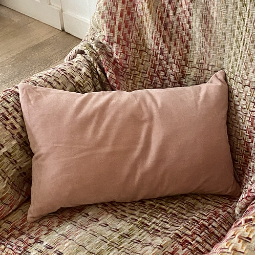 Rectangular Velvet Cushion in Pink or Pink