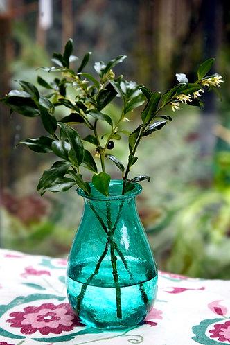 Recycled Teal Vase