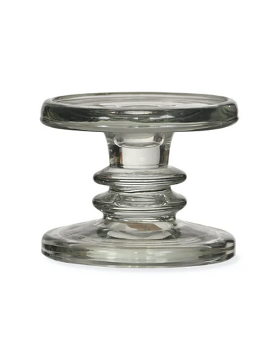 Chunky Glass Candle Holder Small