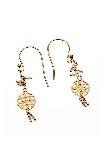 Gold and Pearl, DanglyCircle Design