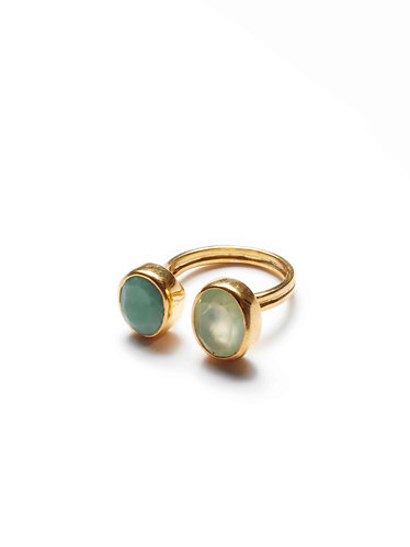 2 Gem Ring - Blue & Turquoise