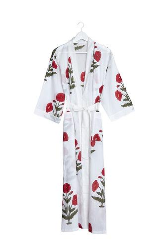 Kimono with Poppy Design