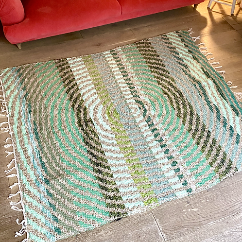 Recycled Green Cotton Rug