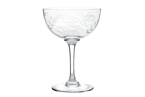 Champagne Coupe - Fern Design