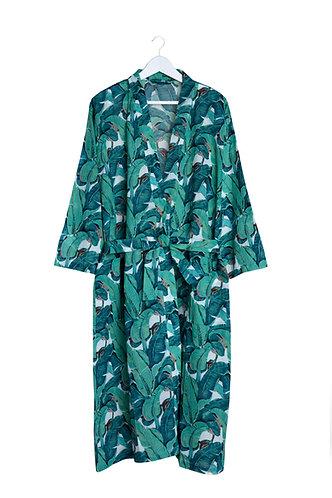 Kimono with Banana Leaf Design