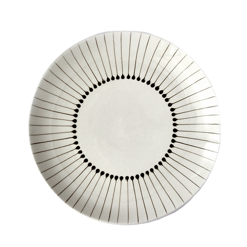 Pinstripe Dinner Plate