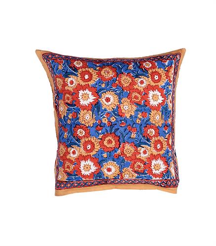 Cotton Cushion Cover. Reversible - Floral