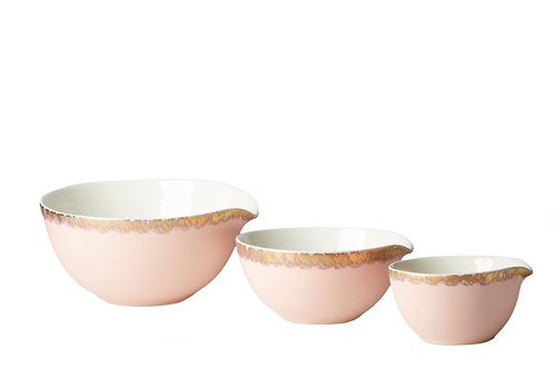 Set of 3 Dusky Pink