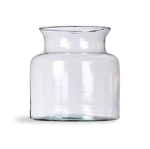 Jar Shaped Glass Vase, Small