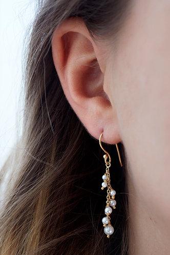 Multi Pearl Drop Earring