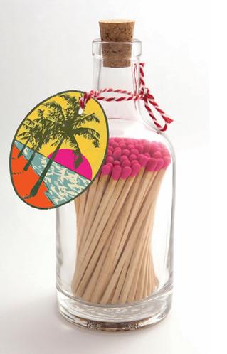 Palm Tree Bottled Matches
