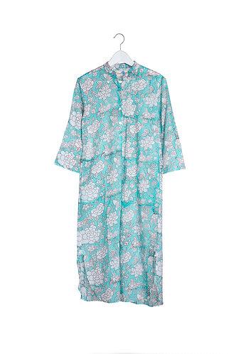 Kaftan Green Flower Night Shirt