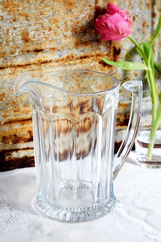 Vintage Heavy Glass Jug