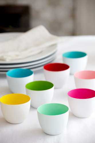 Set of 8 Coloured Tea Lights