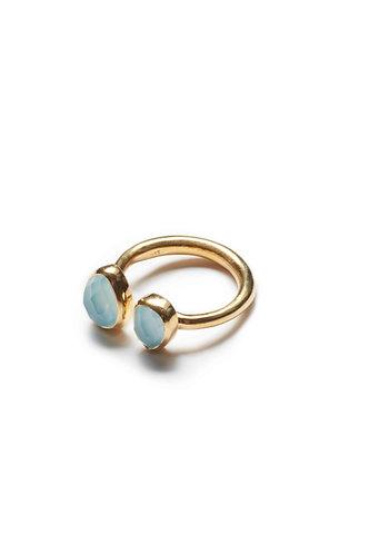 2 Stone Ring - Light Blue