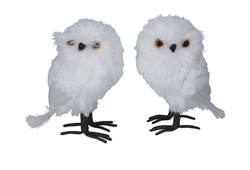 White Faux Fur Owl
