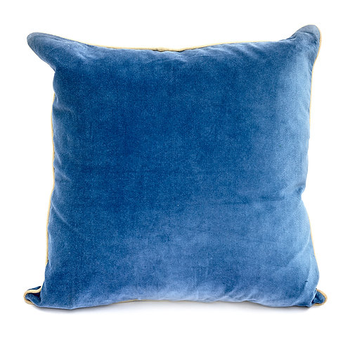 Denim Blue Velvet Cushion