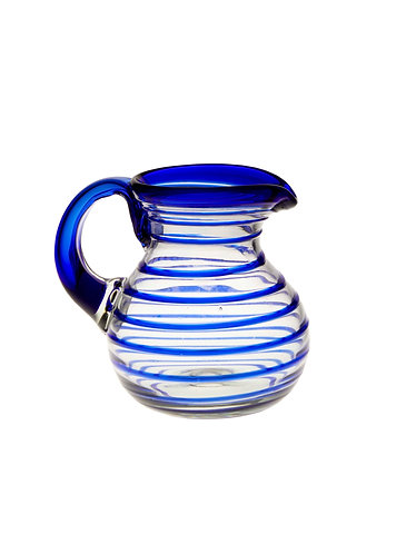 Medium Water Jug - Blue Spiral