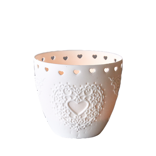 Ceramic Heart Design Tea Light