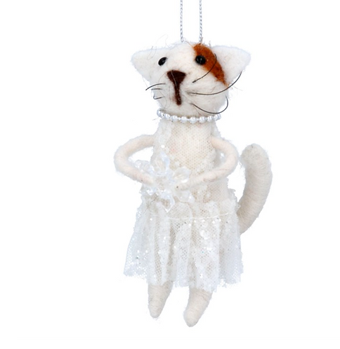 Wool Mix Cat with necklace