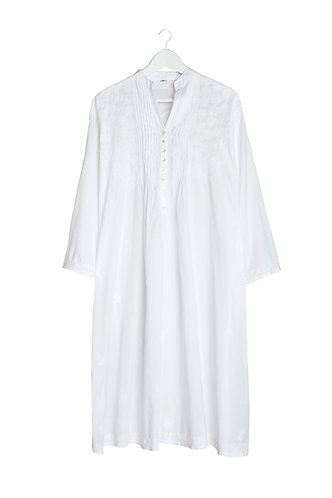 Kaftan with White Embroidery