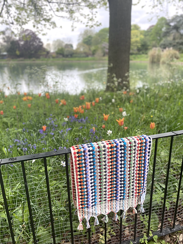Multi-Coloured Spot Terry Hand Towel