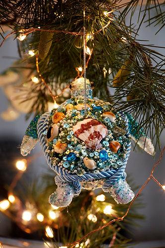 Turquoise Glitter Turtle
