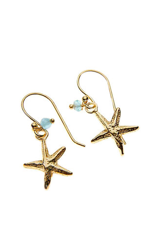 Gold Starfish Earring