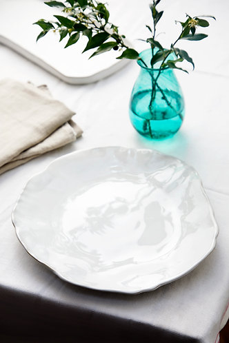 Ceramic Plate in Chalk White