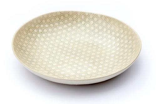 Flat Bowl, Warm Grey Pattern