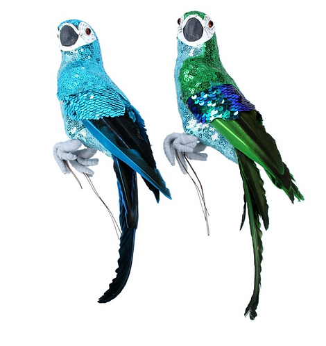 Sequin & feather Parrot
