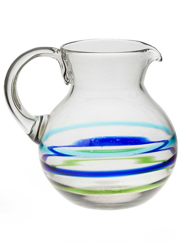 Glass Water Pitcher - 3 Rings