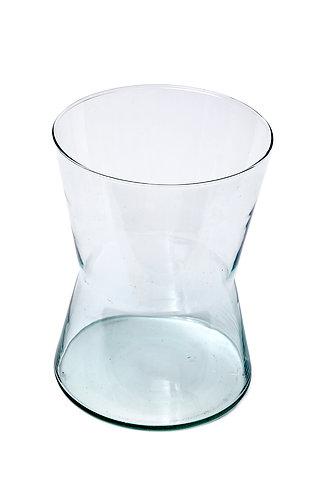 Large Waisted Glass Vase