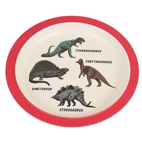 Bamboo Plate - Dinosaur