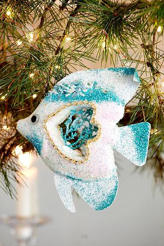 Turquoise Glitter Fish