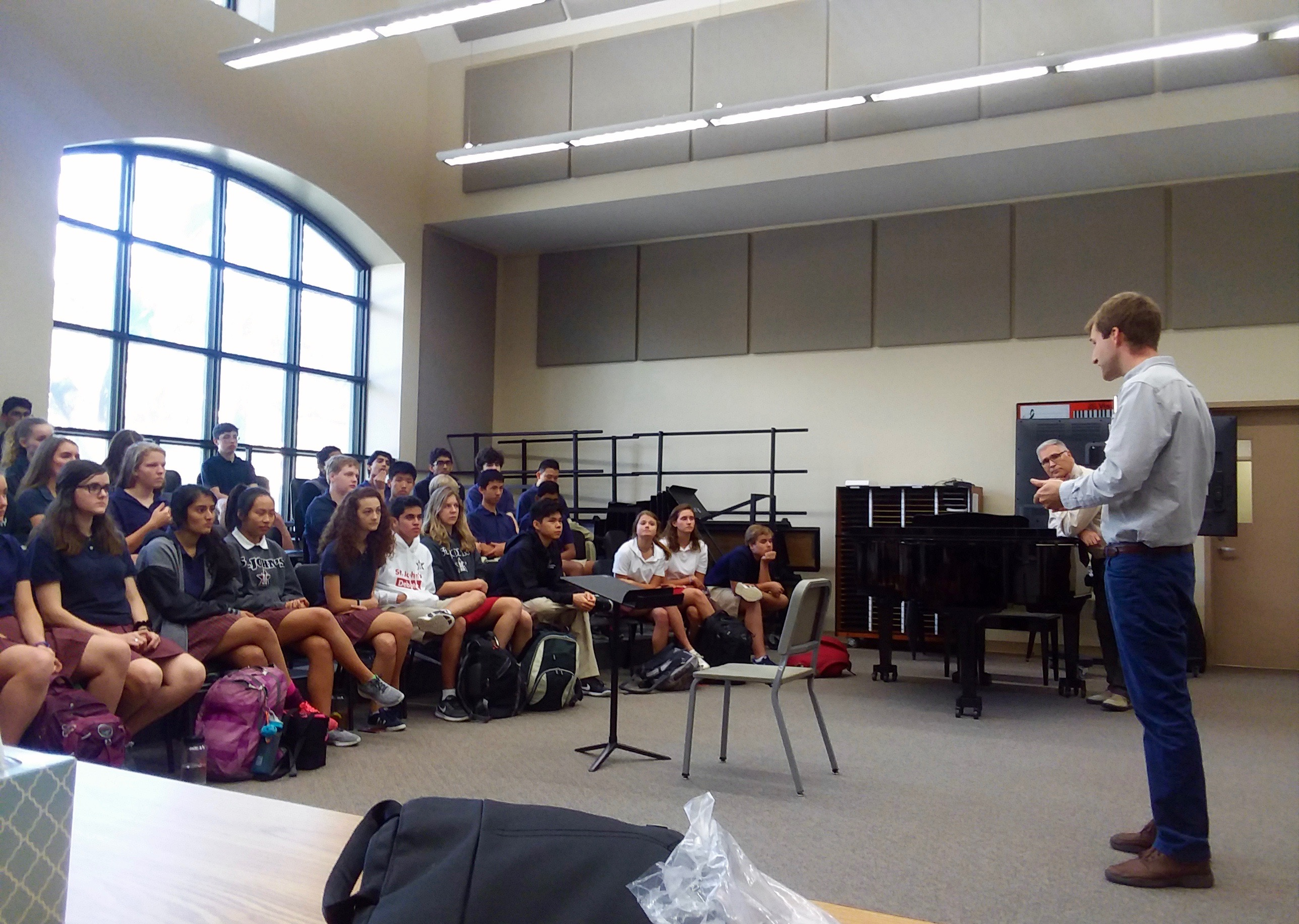 Guest teaching session at US school